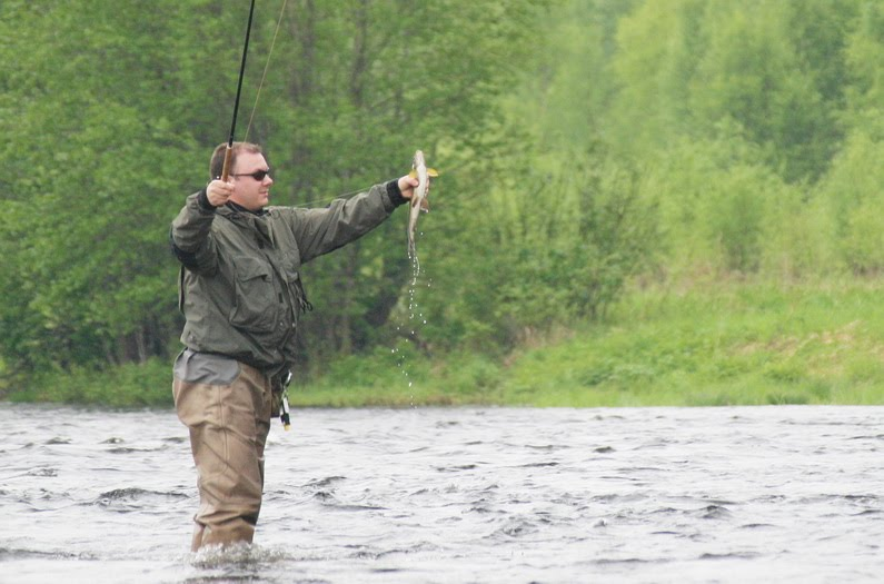 tenkara fishing in Norway, Trysil
