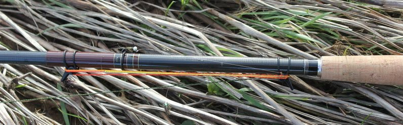 tenkara rod with nymphing rig