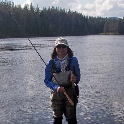 Misako Ishimura with TryTenkara rod