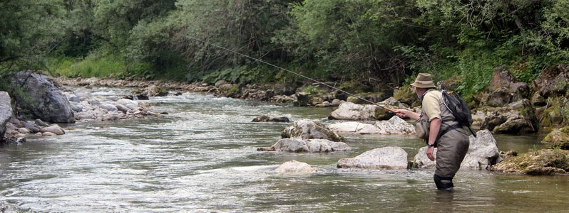Tenkara fishing at Kokra river