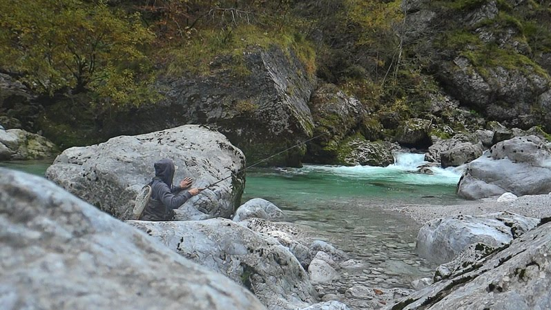 tenkara fishing in Slovenia